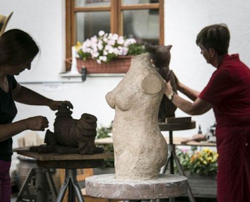 Skulpturen töpfern