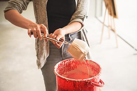 Streichglasur, Töpfern, Keramik